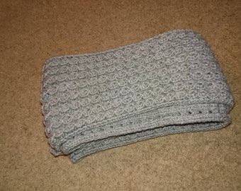 Hand Knitted Grey Scarf