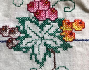 FOUR EMBROIDERED LINENS