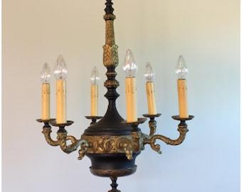 A8207 Art Deco Candle Chandelier