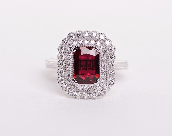 The Suzy - GIA certified Ruby and Diamond ring
