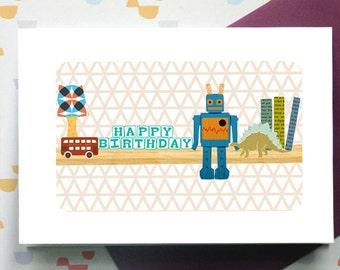 """My Toy Shelf """"Harry"""" - birthday card"""
