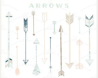 Arrow Clip Art - PNG Files - Photoshop Brushes - Digital Graphic Set - Photo Overlays