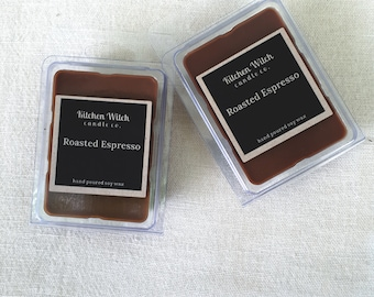 Roasted Espresso wax melts, SOY wax melts, soy tarts coffee scented