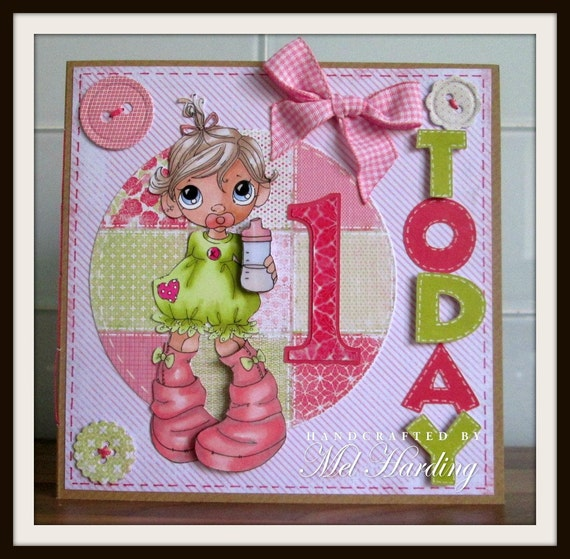 Daughter First Birthday Invitation Quotes Best Email 1 Year Old Card Verse Items Similar To Handmade Greeting