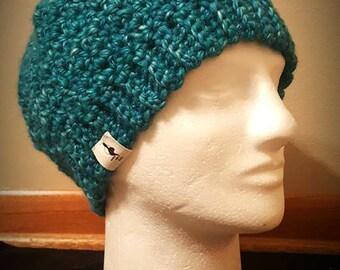 Dimensional Teal Beanie Hat- Size Medium