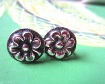 Floral Earrings Sterling Silver
