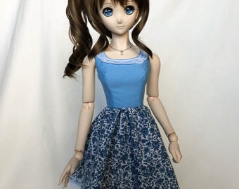 Dollfie Dream Blue Roses Dress