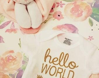 Hello World little baby one-z  - SALE!