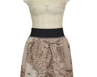 NEW Map of Middle Earth Costume skirt