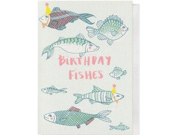 Birthday Fishes, A6 Birthday Card