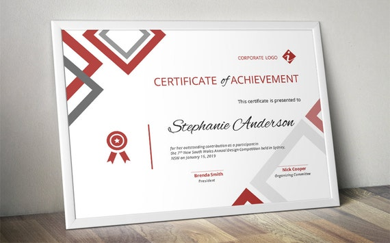 Diamond corporate business certificate template for ms word friedricerecipe Images