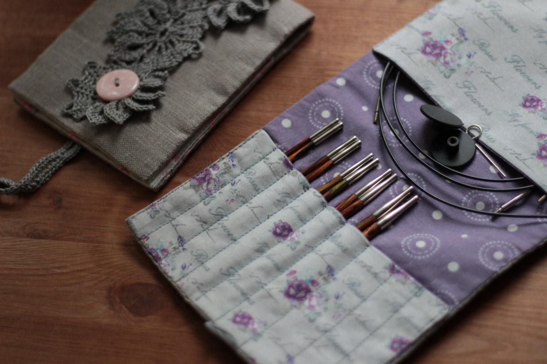 DIY PDF Sewing Pattern & photo tutorial Interchangeable needles case ...