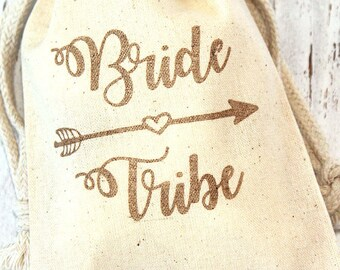 Bride Tribe Favor Bags - 4x6 or 5x7 - Bachelorette party, wedding party gifts