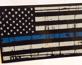 Blue Lives Matter Flag Decal