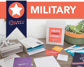 Deployment Military Open When Letters. Great Husband Gift, Boyfriend Gift,  Wife Gift, Sister...Perfect for Long Distance Relationships.
