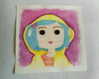 Coraline Watercolor Watercolor