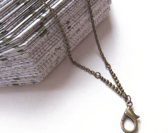 Vintage Gold Badge Lanyard, Dark Gold Lanyard, ID Holder, Badge Holder, ID Necklace, ID Lanyard, Chain Lanyard, Lanyard with Badge Holder