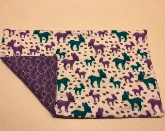 Woodland Girl Burp Cloth