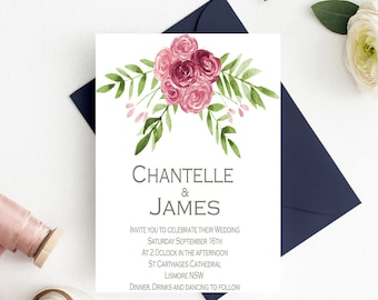 Wedding invitation-instant download-wedding invite-printable wedding invite-editable wedding invitation-editable invitations-diy invitations