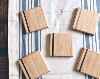 Wooden Striped Coasters