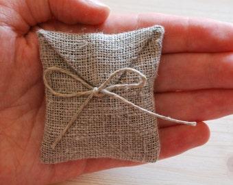 Linen favor / gift / candy envelope  bags. Wedding favors. Set of 10-50. Linen bags/purse/sachet. Burlap favors.Size : 2.5 inch x 2.5 inch