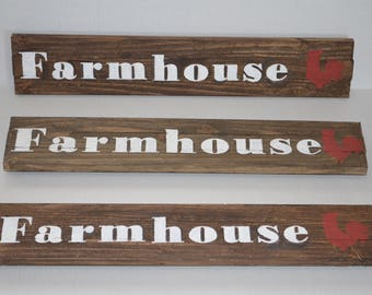 """Homemade Rustic Farmhouse signs 25"""" x 4.5"""" Hand Painted Custom Signs Rustic Decor"""
