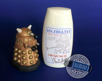 HY-DRATE! Doctor Dalek - Doctor Who Inspired Body Lotion - Jammie Dodger Scented
