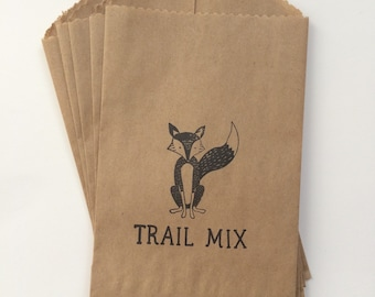 Camping  Trail Mix 4x6 Favor Bags, Set of 25