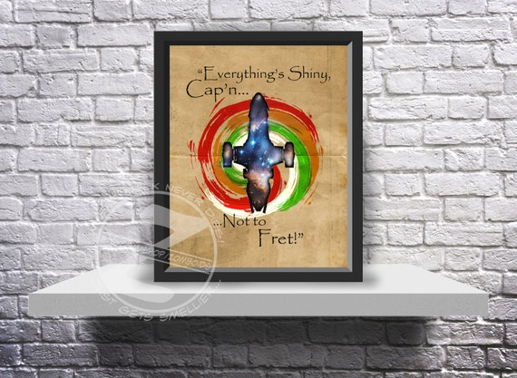 """Custom Firefly Kaylee """"Kaywinnet Lee Frye"""" Serenity print poster - Choose Size, and Quote"""