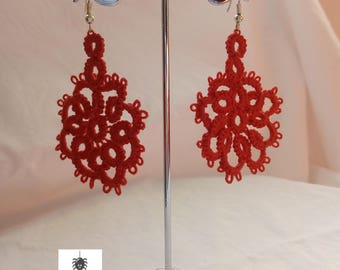 tatting Pendant Elisa Earrings