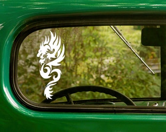 2 DRAGON DECALs Sticker For Car Truck Rv Jeep Bumper Bulk Window Laptop 4x4..