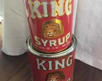 King Syrup tins collectible decor