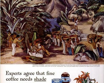 1946 Chase & Sanborn Coffee and Max Factor Hollywood Christmas Ad