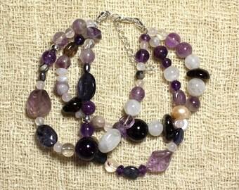 Amethyst - Semi precious stones bracelet and 925