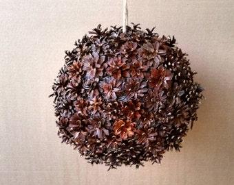 Kissing Ball, Pine Cone Kissing Ball, Pine Cone Christmas Ornament, Christmas Kissing Ball, Holiday Kissing Ball