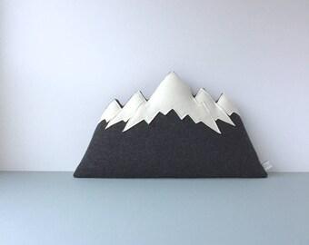 the Tetons - wool mountain range pillow - MADE TO ORDER