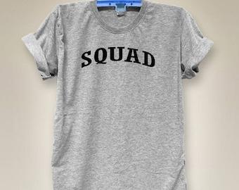 Squad shirt funny shirt hipster tumblr shirt slogan shirt fashion Top cute Top tumblr tee women top V-neck shirt gray shirts size S M L