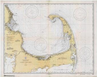 Cape Cod Map (Cape Cod Bay) 1933