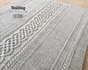 Clover Knit Baby Blanket PATTERN