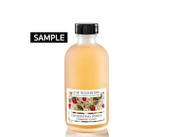 Exfoliating Strawberry Face Toner, Natural Beauty, Skincare Samples, Sensitive Skin, Natural Products, Beauty Gift, Facial Care, Skin Care