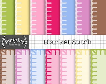 Stitched Digital Paper, Pastel Background Paper, Sewing and Crafting Cardmaking  Paper, Scrapbooking Supplies, Commercial Use