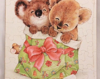 """Vintage 1979 Sealed Hallmark Christmas Puzzle Greeting Card. 10 1/4"""" by 7 1/8"""""""