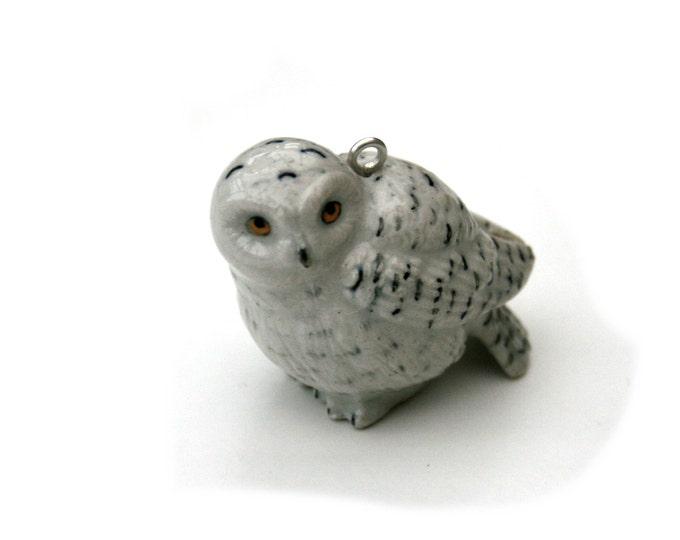 Porcelain Bird Necklace, Owl Necklace, Animal Necklace