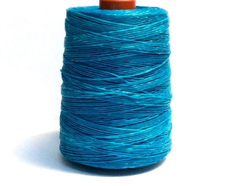 50 meters ≈ 55 yards / 1mm Blue Waxed Cord / Cotton Waxed Cord