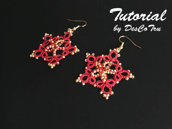 Tatting tutorial golden star earrings do it yourself make solutioingenieria Choice Image