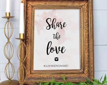 Wedding Instagram sign, Personalised Instagram Hashtag Sign for Wedding, 'Oh Snap' Instagram Sign for Wedding