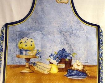 Blueberries and lemon full apron