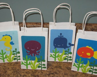 Under the Sea Party Gift Bags - Set of 12
