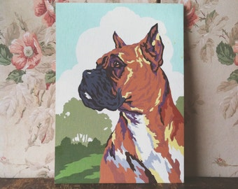 Vintage Boxer Paint By Number - Boxer Dog PBN