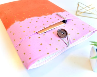 """11"""" Laptop Case 13"""" Laptop Sleeve 12"""" MacBook 14"""" Laptop Computer Case 15.6"""" Padded with Pocket - Pink and Gold"""